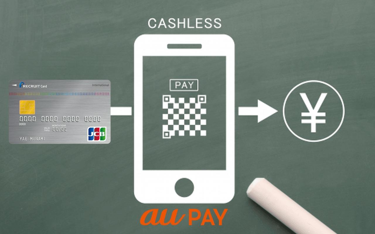 リクルートカードでau PAY(auペイ)にチャージ可能!ポイント還元率は?